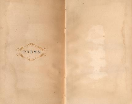 Free Stock Photo of Antique Poems Paper Template