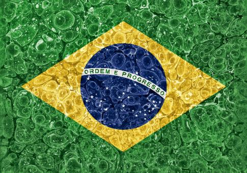 Free Stock Photo of Organic Grunge Flag - Brazil
