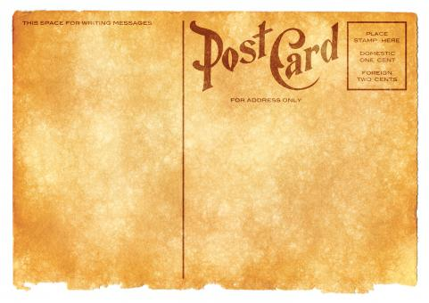Free Stock Photo of Blank Vintage Postcard - Sepia Grunge