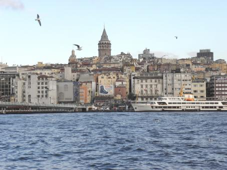 Free Stock Photo of Golden Horn & Galata Tower in Istanb