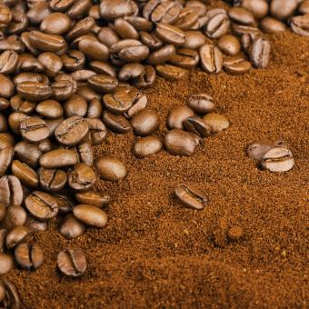 Free Stock Photo of Coffee Beans and Grain
