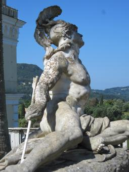 Free Stock Photo of Statue of Achilles on Corfu island, Gree