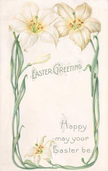 Free Stock Photo of Antique Easter Greeting Card