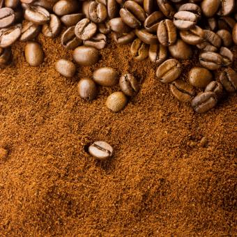 Free Stock Photo of Coffee Grains Background