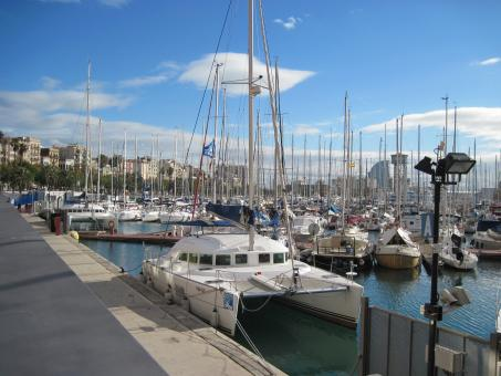 Free Stock Photo of Yacht marina in Barcelona, Spain
