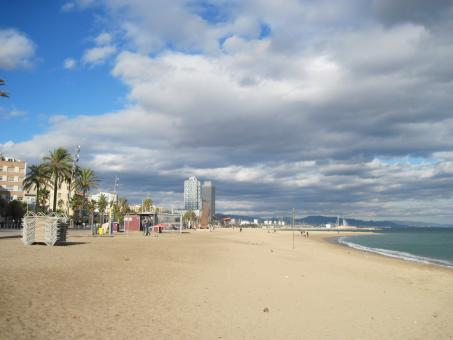 Free Stock Photo of Barcelona beach