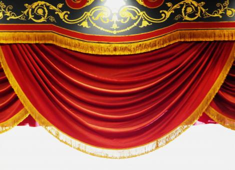 Free Stock Photo of Red stage curtain