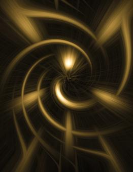 Free Stock Photo of Golden Vortex Abstract