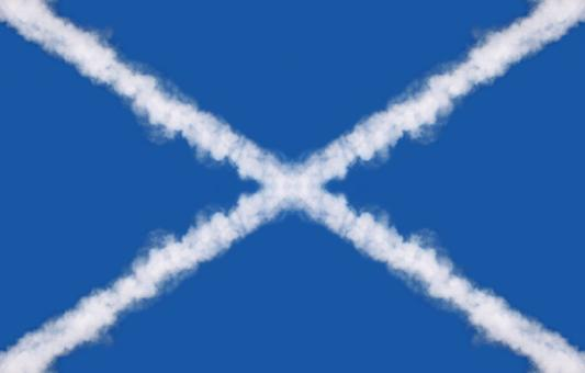 Free Stock Photo of Scotland Cloud Trail Flag