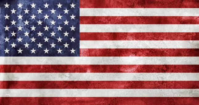 Free Stock Photo of Acrylic Grunge Flag - USA