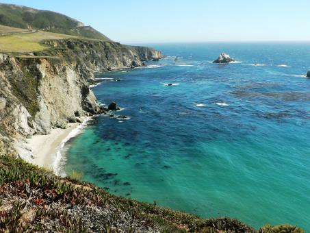 Free Stock Photo of California coast