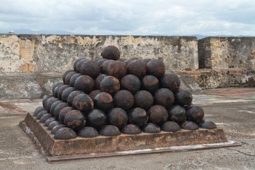 Free Stock Photo of Puerto Rico - Cannonballs