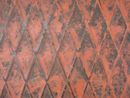 Free Stock Photo of Red metal grid