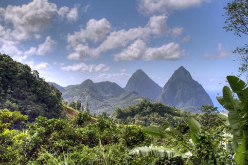 Free Stock Photo of St. Lucia Mountain Scape