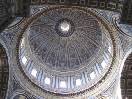 Free Stock Photo of St Peter's basilica dome