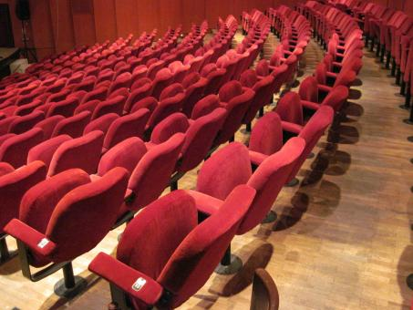 Free Stock Photo of Empty theater hall seats