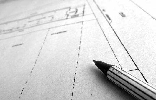 Free Stock Photo of Building Blueprint