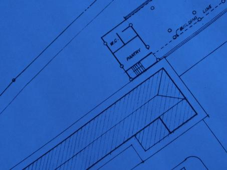 Free Stock Photo of Blueprint