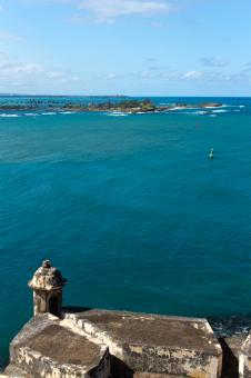 Free Stock Photo of Puerto Rico Fort - View over the Sea