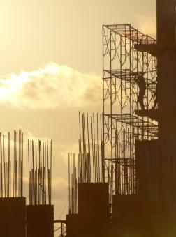 Free Stock Photo of Construction Silhouette