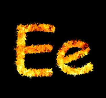 Free Stock Photo of Fire letter
