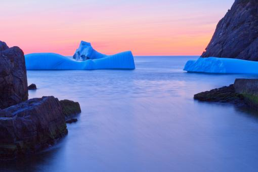 Free Stock Photo of Icebergs near Shore