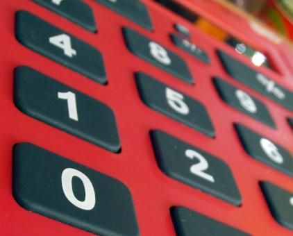 Free Stock Photo of Red Calculator