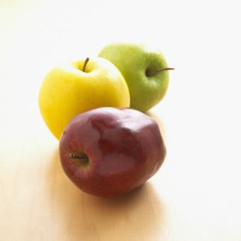 Free Stock Photo of Colored Apples