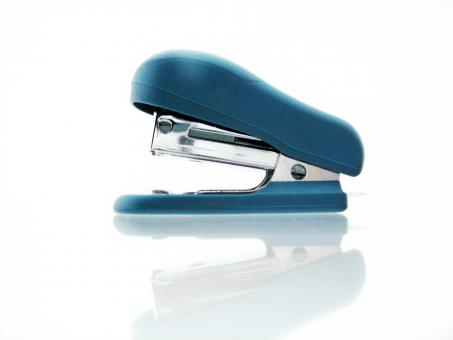 Free Stock Photo of blue stapler