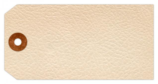 Free Stock Photo of Vintage Paper Tag - White Leather