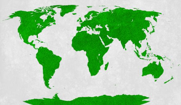 Free Stock Photo of World Map - Green Velvet