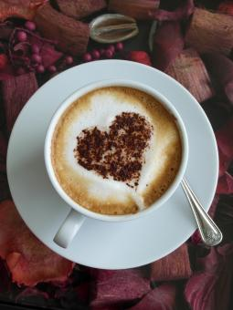 Free Stock Photo of Coffee Heart Art