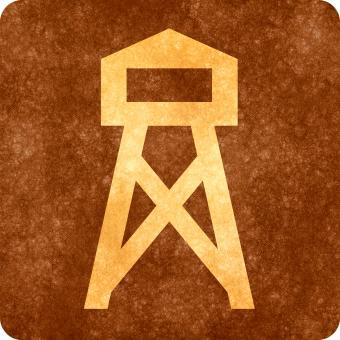Free Stock Photo of Sepia Grunge Sign - Watch Tower