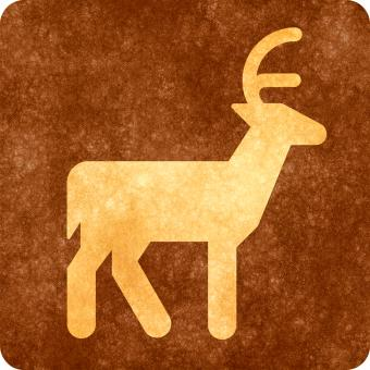 Free Stock Photo of Sepia Grunge Sign - Deer Viewing