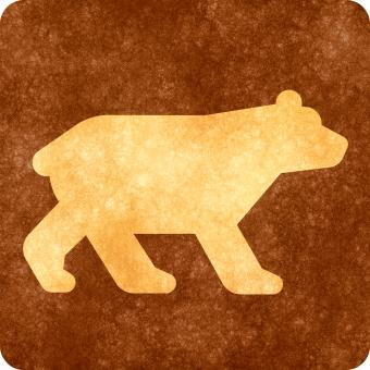 Free Stock Photo of Sepia Grunge Sign - Bear Viewing