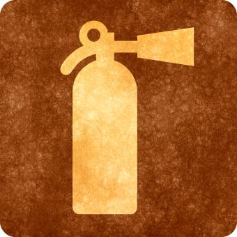Free Stock Photo of Sepia Grunge Sign - Fire Extinguisher