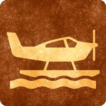 Free Stock Photo of Sepia Grunge Sign - Sea Plane