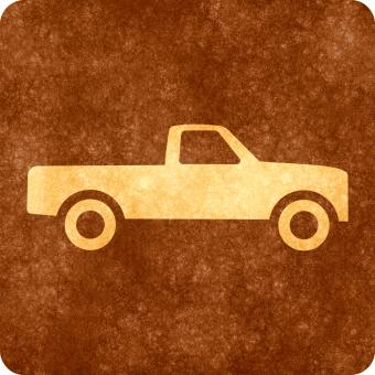 Free Stock Photo of Sepia Grunge Sign - Pick-up Truck