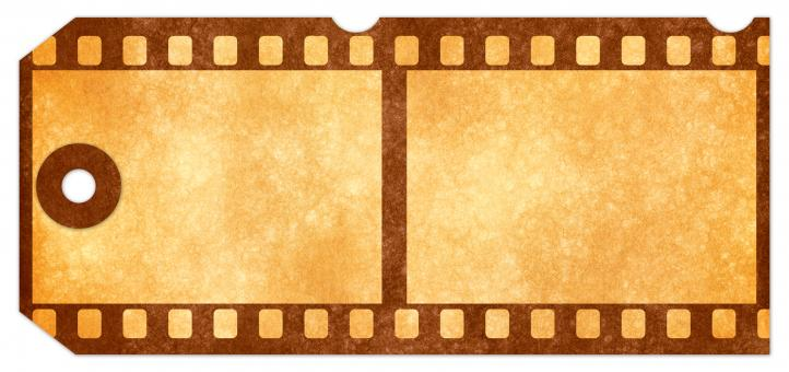 Free Stock Photo of Grunge Tag - Sepia Film Strip