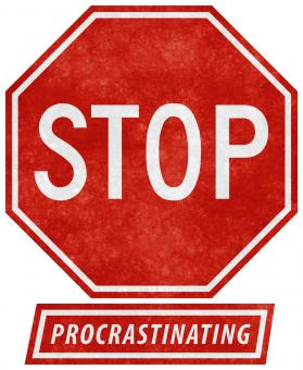 Free Stock Photo of Grunge Road Sign - Stop Procrastinating