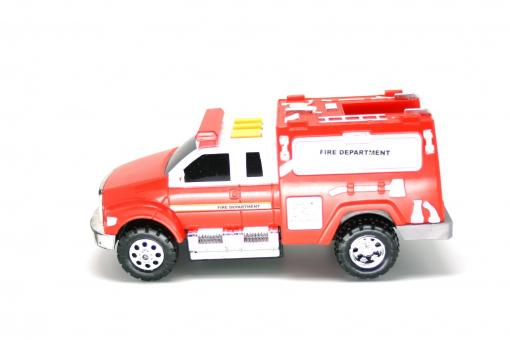 Free Stock Photo of Red fire engine toy