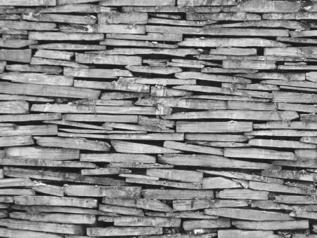 Free Stock Photo of Slate Dry Stone Wall Background