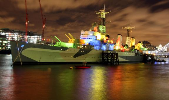 Free Stock Photo of HMS Belfast