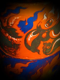 Free Stock Photo of Chinese Dragon Painting
