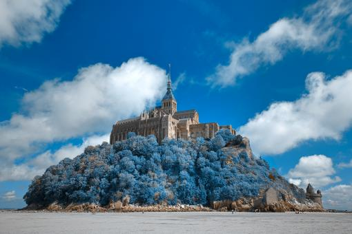 Free Stock Photo of Mont Saint-Michel Castle