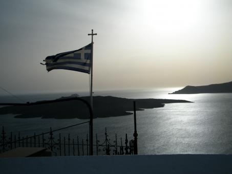 Free Stock Photo of Greek Flag
