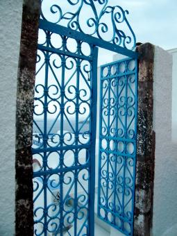 Free Stock Photo of Blue Gate
