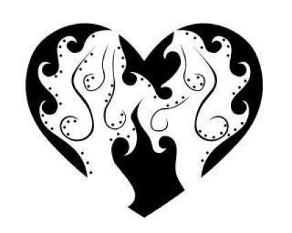 Free Stock Photo of Heart tribal vector