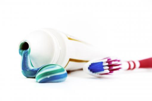 Free Stock Photo of Toothbrush and toothpaste