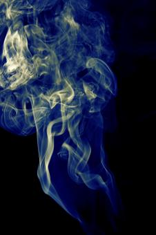 Free Stock Photo of blue smoke on black